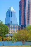 Austin city skyline. Skyline of modern skyscraper buildings in Austin, Texas, USA Stock Photos