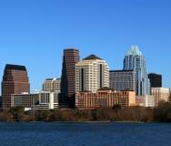 austin cityscape i stadens centrum texas Arkivfoto