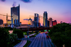 Austin Cityscape Twilight sunset Urban City Stock Images