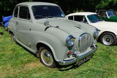 Austin A35. A classic British two door saloon car built from 1956 to 1968 at a vintage vehicle rally Royalty Free Stock Images