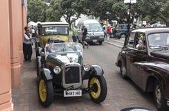 Austin Convertible Vintage Car in Napier, Nieuw Zeeland 1927 - 1930 Stock Foto's