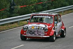 Austin Cooper racing at Rampa da Falperra 2012 Stock Images