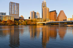 Austin del centro al tramonto Immagine Stock Libera da Diritti