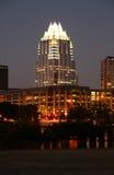 Austin del centro, il Texas alla notte immagini stock libere da diritti