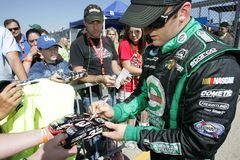 Austin Dillon signs autographs Royalty Free Stock Image