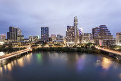 Austin Downtown na noite Tx, Estados Unidos imagem de stock royalty free