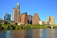 Austin Downtown Skyline lizenzfreies stockbild
