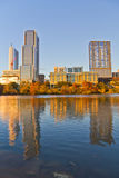 Austin du centre au coucher du soleil Images libres de droits
