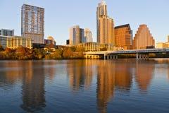 Austin du centre au coucher du soleil Image libre de droits