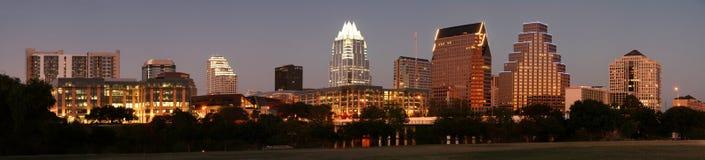 Austin du centre, le Texas la nuit Photographie stock libre de droits