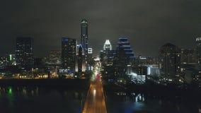 Austin en la noche imagen de archivo libre de regalías