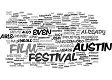 Austin Film Festival Word Cloud Concept Royalty Free Stock Photography
