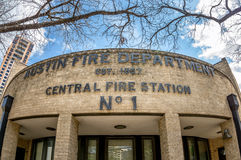 Austin Fire Station No. 1. 3-23-2016 Austin TX USA  -  Down Town Austin's Fire Station Stock Photo