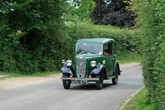 Austin 7 in Fritham. The Austin 7 is an economy car that was produced from 1922 until 1939 in the United Kingdom by Austin. It was nicknamed the `Baby Austin` Stock Images