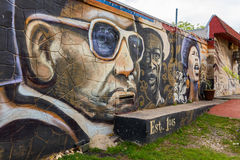 Austin Graffiti Walls Arkivfoton