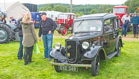Austin 7 at Grantown on Spey agricultural show. Immaculate Austin Seven in the Grantown on Spey agricultural show held on 10 th August 2017 stock images