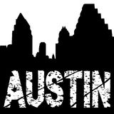 Austin grunge text with skyline Stock Image