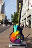 Austin, guitarra Fotografia de Stock Royalty Free
