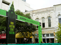 Austin Half Marathon finish line Royalty Free Stock Photography