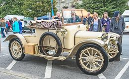 Austin Harrogate 1910 model. Austin Harogate in pristine condition show at Motor Maniam on 3rd September 2017 at Grantown on Spey royalty free stock photos