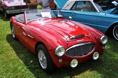 Austin Healey 3000 MK I in Antique Car Show Stock Photos