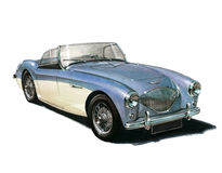 Austin Healey 100/4 Stock Fotografie