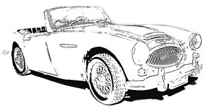 The Austin-Healey 3000 Royalty Free Stock Image