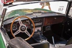 Austin Healey 3000 het binnenland van mk II Royalty-vrije Stock Foto