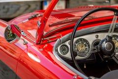 Austin Healey - klassisk sportig cabriolet av 60-tal Arkivbilder