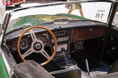 Austin-Healey 3000 MK II interior Royalty Free Stock Photo