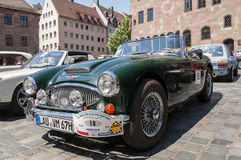 Austin-Healey 3000 MK II - lateral view Royalty Free Stock Photos