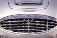 Austin healey oldtimer car grill Stock Photo