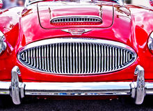 Austin - Healey. Restored red 3000 MK ll Austin - Healey at a August, 2011 classic car show in Washington, State Stock Images