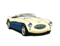 Austin Healey 100S Stock Images