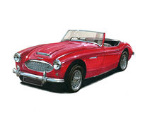 Austin Healey 100-Six Obraz Stock