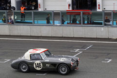 Austin Healey during Three Hours race. Royalty Free Stock Image