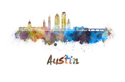 Austin-horizon in waterverf royalty-vrije illustratie