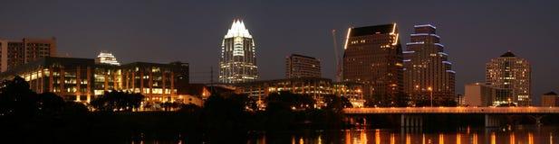 austin i stadens centrum natt texas Royaltyfria Foton