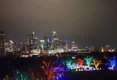 Austin, il Texas e parco di Zilker al Natale immagine stock libera da diritti