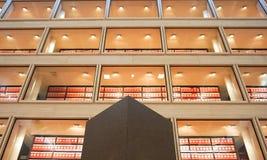 AUSTIN IL TEXAS 17 SETTEMBRE 2017: La biblioteca nel grande corridoio alla biblioteca di Lyndon B Johnson LBJ immagini stock libere da diritti