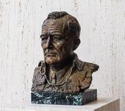 AUSTIN IL TEXAS 17 SETTEMBRE 2017: Una scultura bronzea di LBJ alla biblioteca ed al museo di Lyndon B Johnson LBJ in Austi fotografia stock