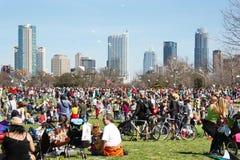 Austin Kite Festival. Zilker Park Kite Festival in Austin, TX Royalty Free Stock Image