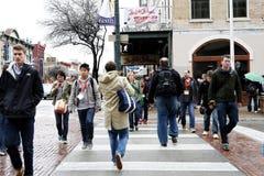 Austin, le Texas, 6ème rue célèbre Image libre de droits