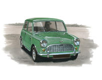 Austin Mini MkI Imagem de Stock Royalty Free