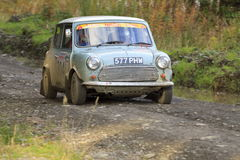 Austin Mini rally car Stock Photography