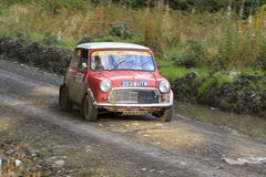 Austin Mini rally car Stock Photos