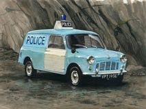 Austin Mini Van Police Royalty Free Stock Images