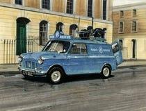 Austin Mini Van RAC kunglig bilanslutning Royaltyfri Bild