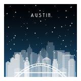 Austin natt i Zurich vektor illustrationer