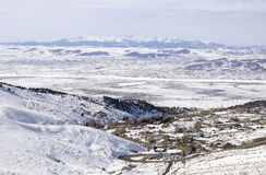 Austin Nevada covered in snow Stock Image